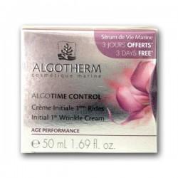 Crème Initiale 1ères Rides Algotime Control Algotherm (à partir de 25 ans) - Pot 50ml